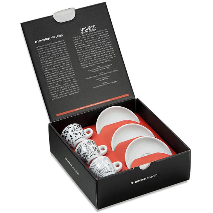 scatola collezione tazzine trismoka